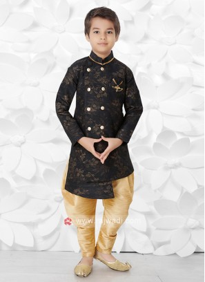 Black & Golden Indo Western For Boys