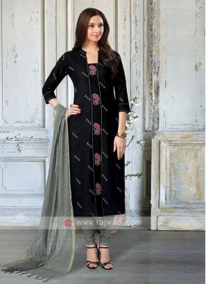 Black & Grey Salwar Kameez