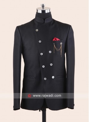 Black Imported Fabric Jodhpuri Set