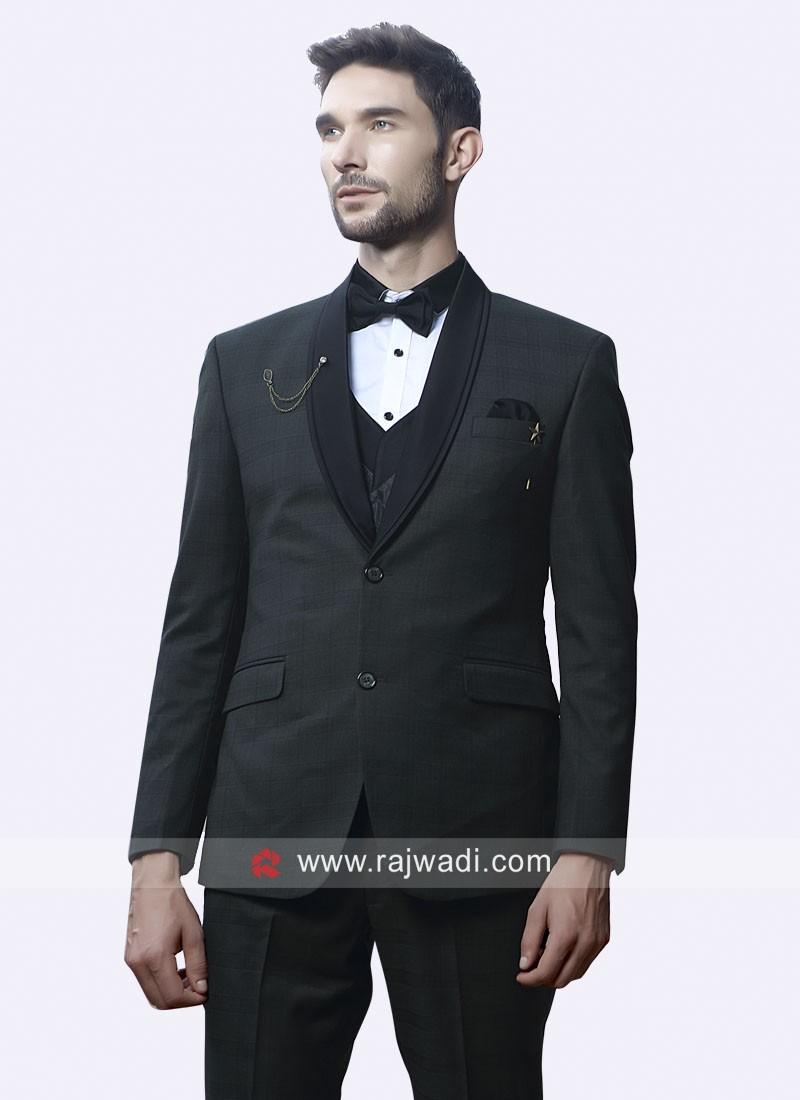 Dark Grey Imported Fabric Suit