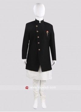Black Indo Western For Boys
