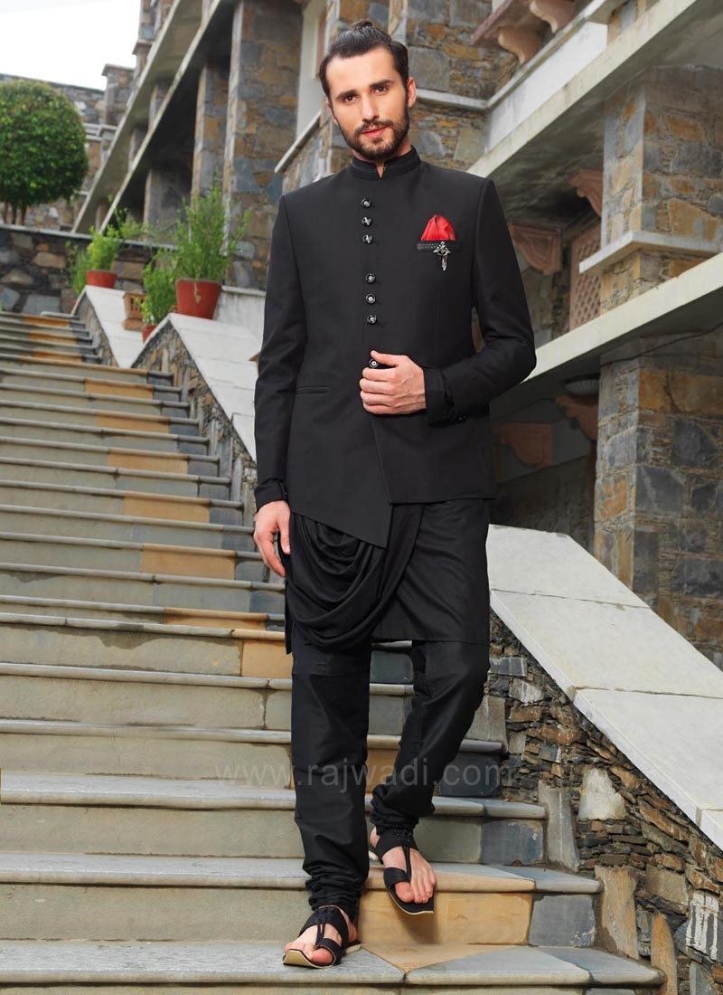 Black Indo Western with Stylish Koti
