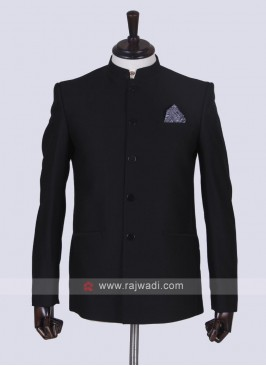 Black Jodhpuri Suit