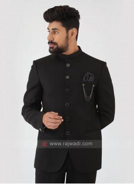 Black Jodhpuri Suit