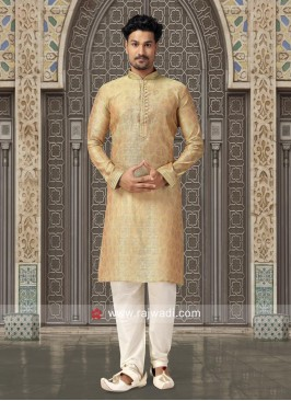 Stylish Goldenrod Kurta Pajama