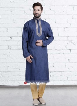 Stylish Blue Color Kurta Set
