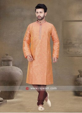 Traditional Orange Kurta Set