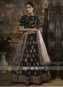 Black Lehenga Choli with Dupatta