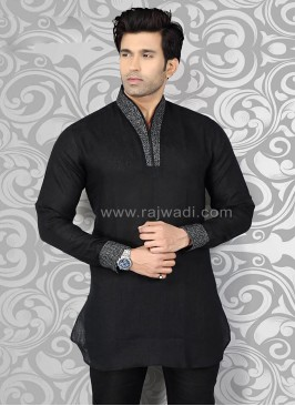 Black Mens Kurta