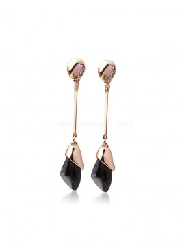 Black Metal Dangler Earrings