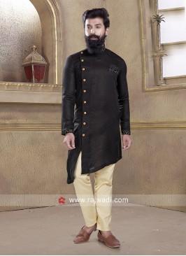 Attractive Black Pathani Set
