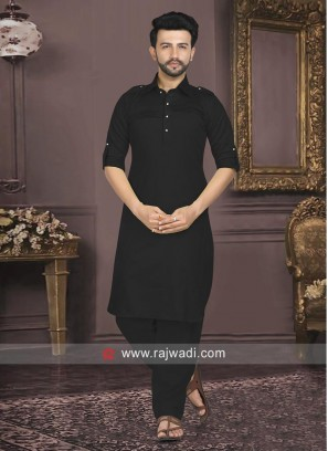 Black Pathani Suit For Mens