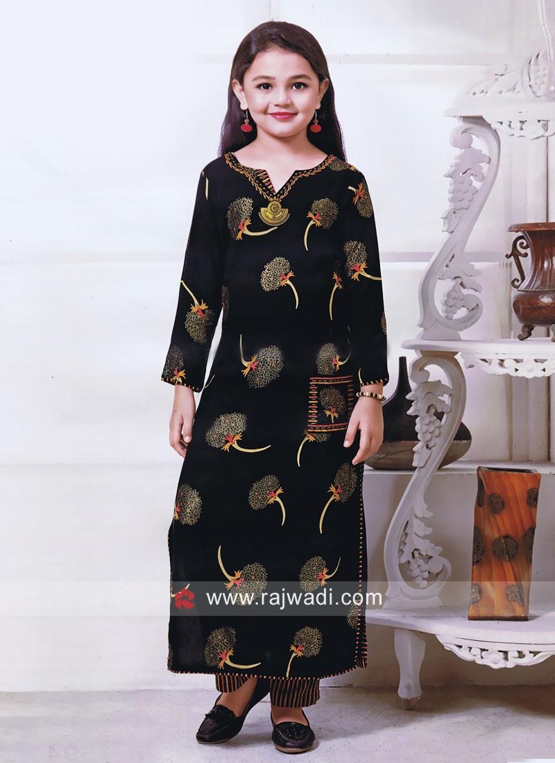 Black Salwar Kameez for Girls
