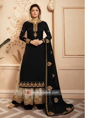 Black Salwar Kameez with Dupatta