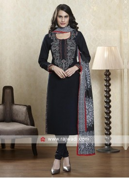 Black salwar suit with dupatta