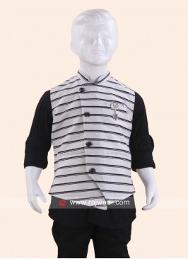 Grey Sleeveless Waist Coat for Boys