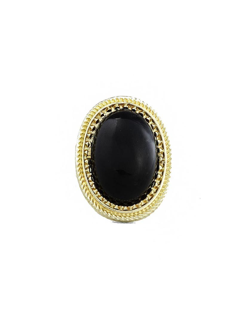 Black Stone Antique Ring