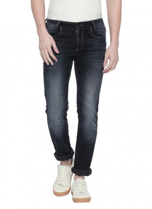 Black Stone Narrow Fit Denim Deluxe Jeans by Mufti