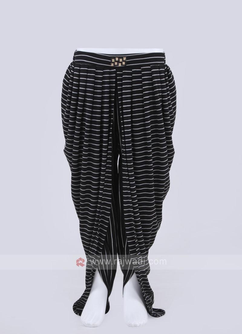 black striped dhoti pant