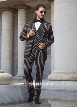 Black Stylish Suit For Party
