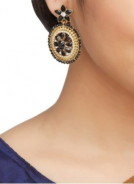 Black Traditional Style Earrings