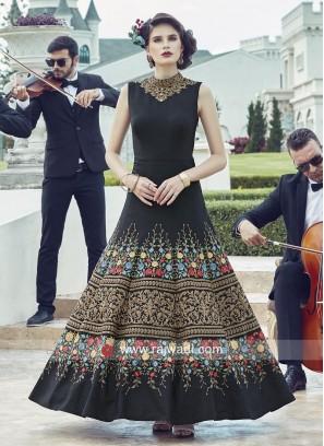 Black Wedding Anarkali Suit