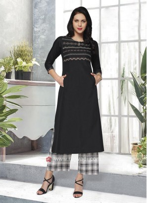 Black & White Kurta set