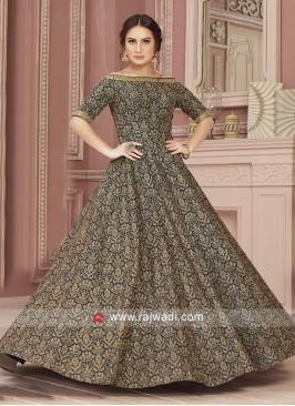 Black Zari Work Gown