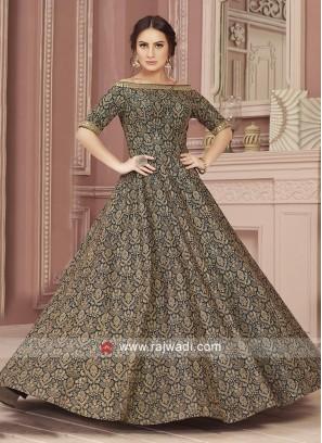 Black Zari Work Gown