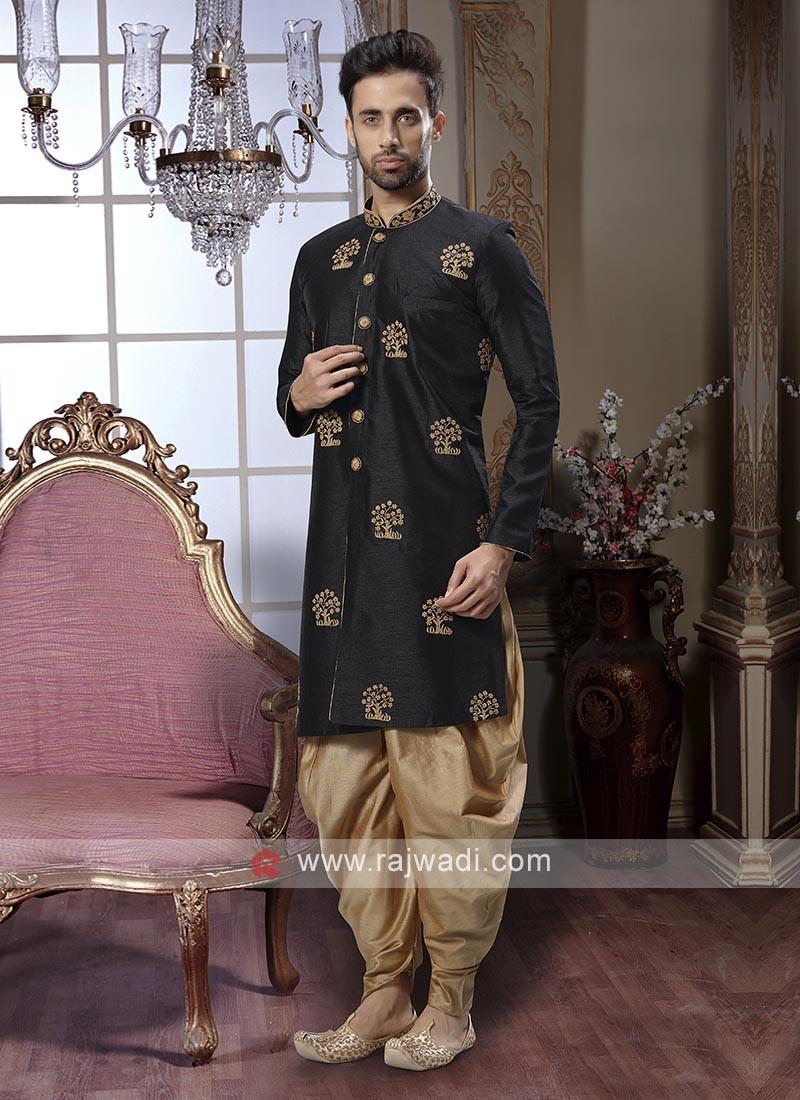 Black Zari Work Patiala Suit