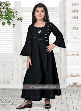 blak color kurti set for girl