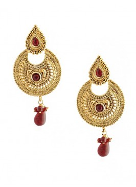 Blinking Maroon Drop Earring
