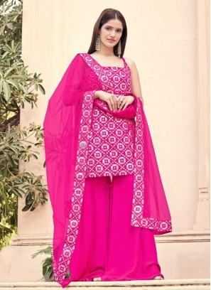 Blissful Fancy Hot Pink Designer Pakistani Suit