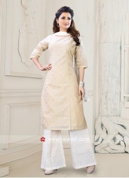 Block Print Cotton Silk Palazzo Suit