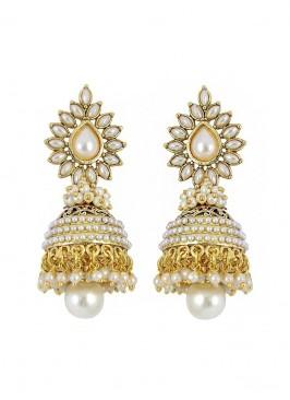 Blooming Pearl  Jhumki Earrings