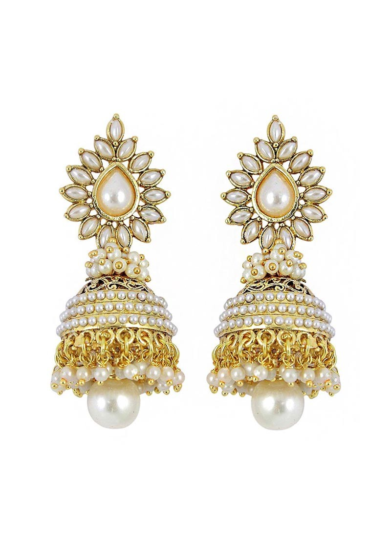 Blooming Pearl  Jhumki Earrings