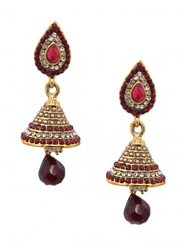 Blooming Traditional Jhumki Earrings