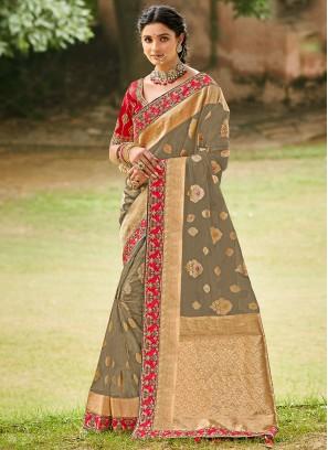 Blooming Weaving Festival Designer Traditional Saree