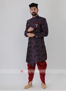Brocade Silk Mens Indo-Western