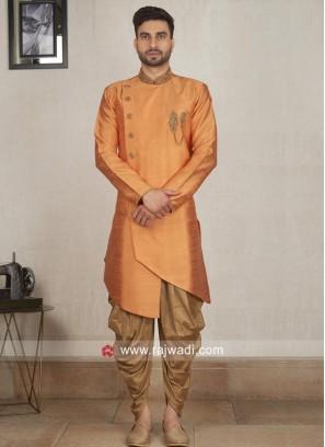 Charming Orange Color Patiala Suit
