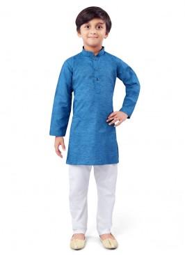 Blue And White Color Kurta Pajama