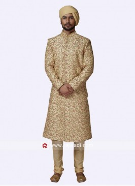 Zardozi and Zari Work Sherwani