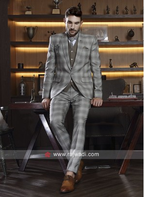 Silver Color imported Suit For Wedding