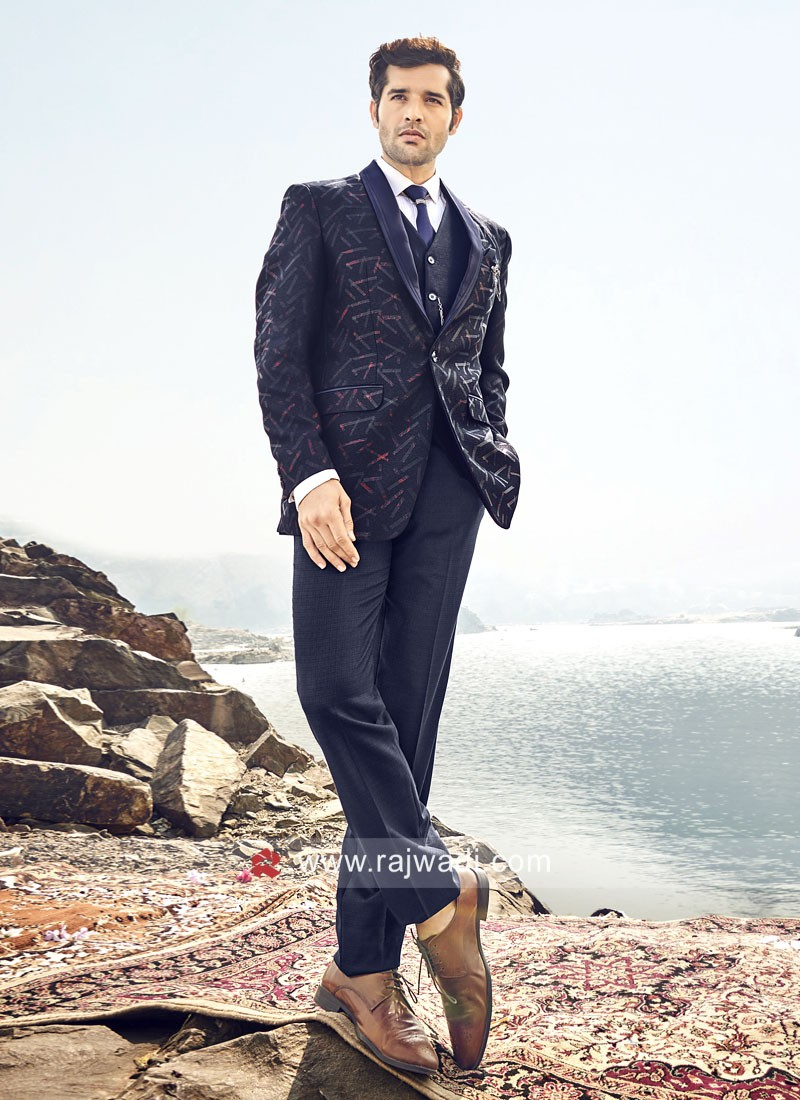 Blue Color imported Suit For Wedding