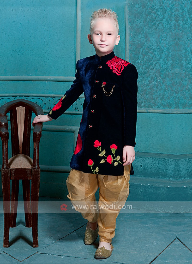 Blue Color Indo Western for Boys