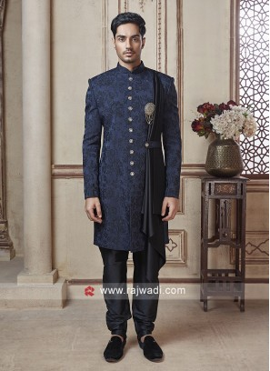Blue Color Indo Western For Party