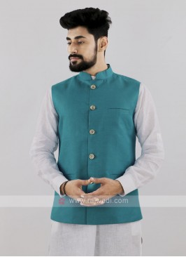Blue Color Koti For Men