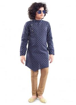 Blue Color Kurta Pajama For Boys