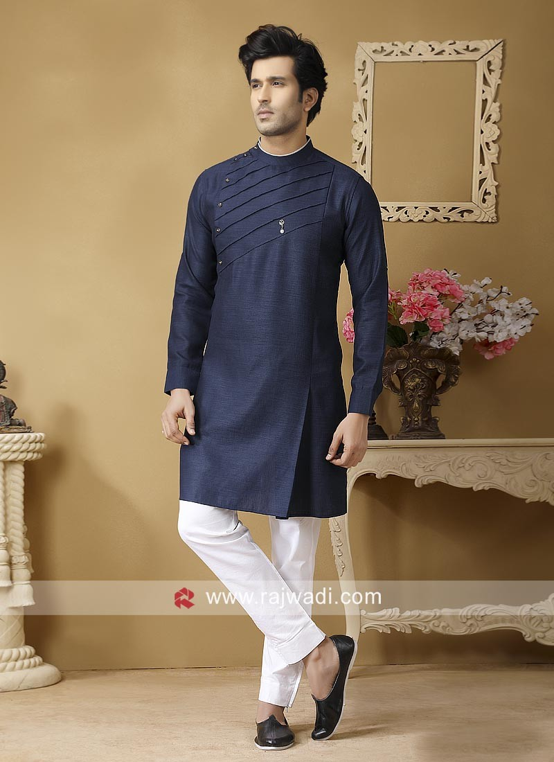 Blue Color Kurta Set For Party