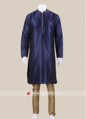 Blue Color Kurta Pajama For Sangeet